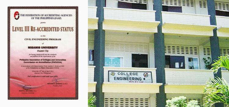 Level III PACUCOA Accreditation Status for Civil Engineering