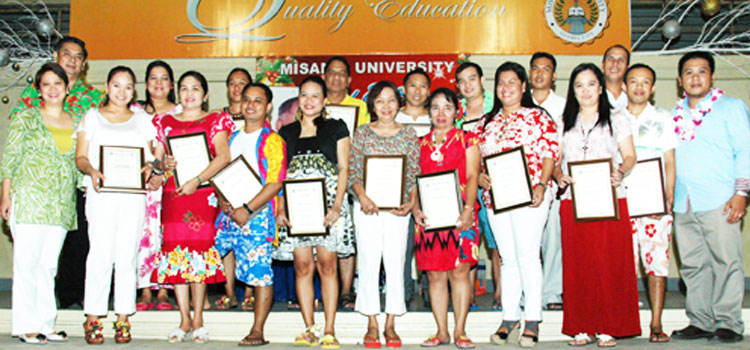 MISAMIS UNIVERSITY TOP PERFORMING EMPLOYEES AWARD