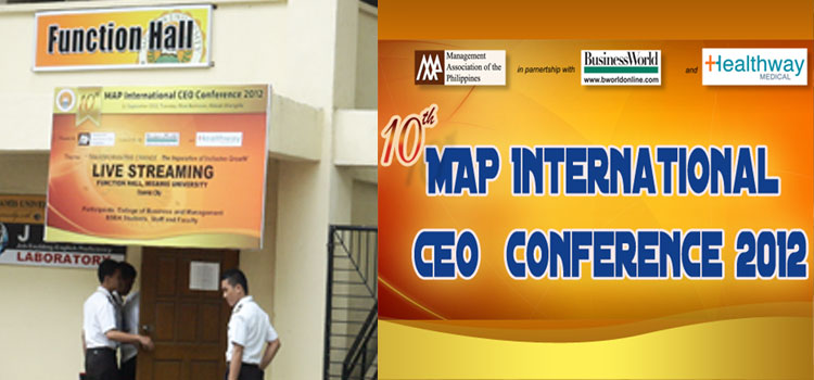 MISAMIS UNIVERSITY participates 10th MAP International CEO Conference 2012