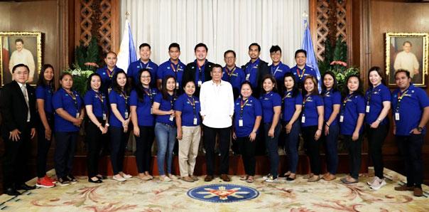 MU Graduate School Students meet the President, Senators, and Executive Secretaries.