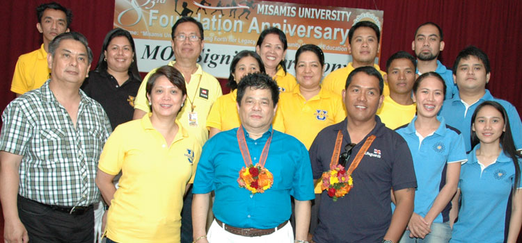 THE LUCKY 7 and MISAMIS UNIVERSITY in MOA SIGNING CEREMONY