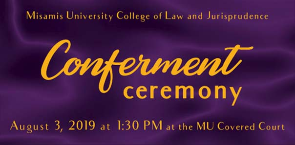 Conferment Ceremony for College of Law Alumni
