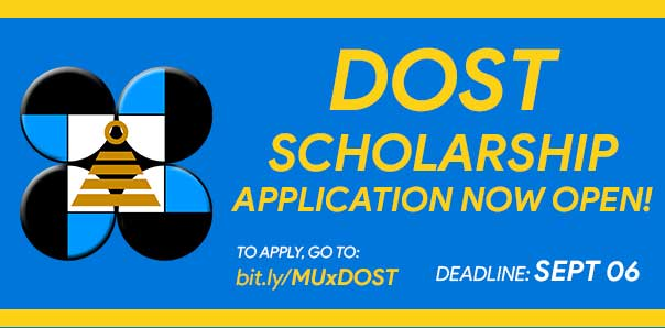 DOST Scholarships is now open for grade12