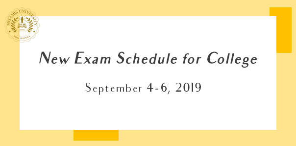 New Exam Schedule  for College