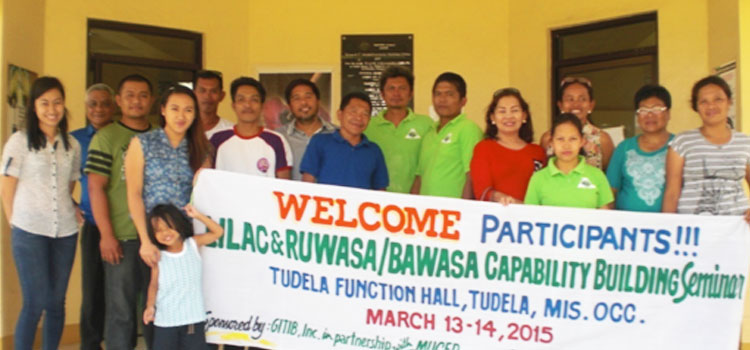 Gitib Incorporated and Misamis University Conducted Capability Building and Enhancement Training and Workshop for LILAC Officers and RUWASA/BAWASA Presidents