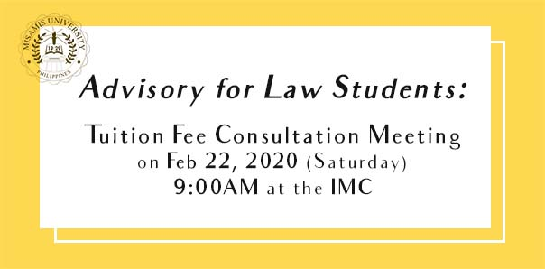 Advisory for Law Students: Tuition Fee Consultation Meeting