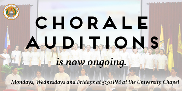 Auditions for the MU Chorale is now ongoing!