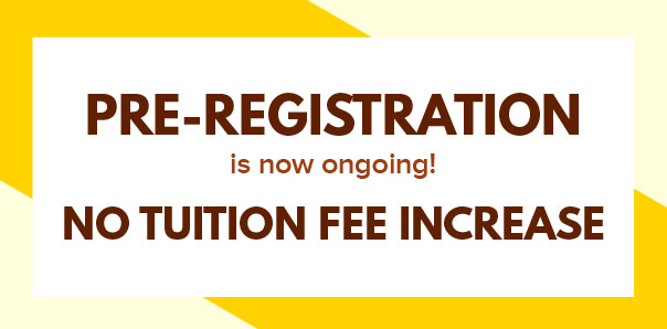 PRE-REGISTRATION FOR 1ST SEMESTER 2020-2021 IS NOW ONGOING!