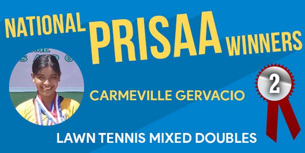 Carmeville Gervacio Bags Silver at Natl. PRISAA 2019