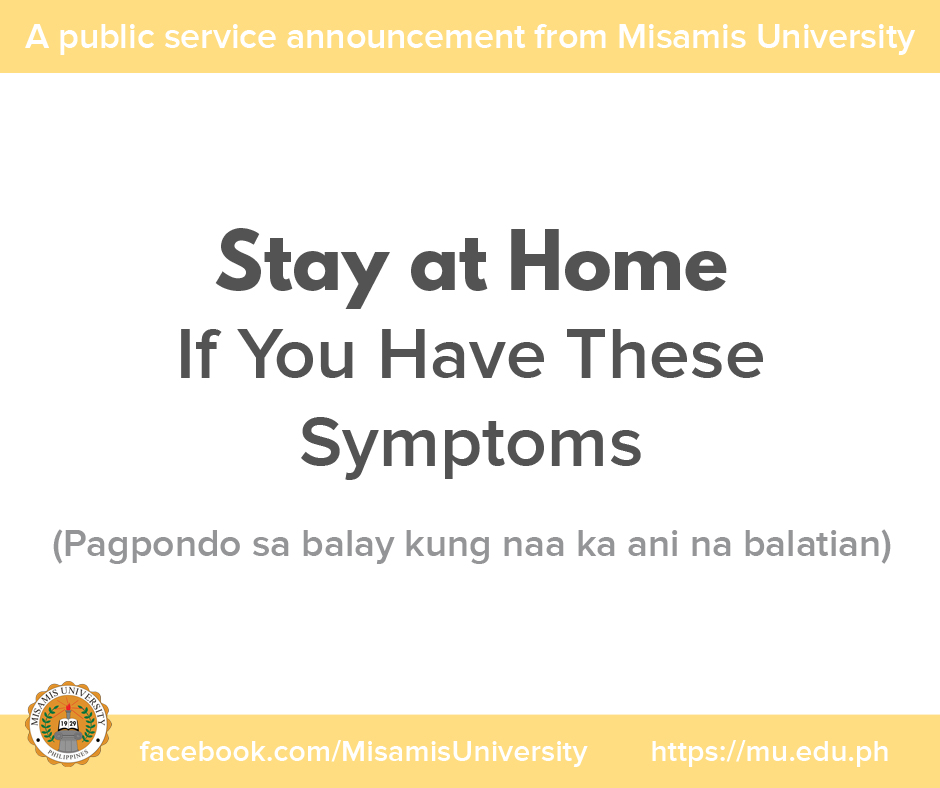 A Public Service Announcement from Misamis University