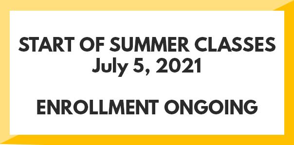 Summer 2021 enrollment ongoing