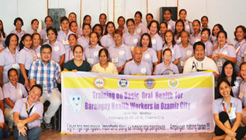 DILG funded training of MU  College of  Dentistry in Partnership with Ozamiz City Health Office and MUCEP on Basic Oral Health for Barangay Health Workers in Ozamiz City (BOH for BHW)