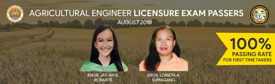 Misamis University Agricultural Engineering board passers 2018