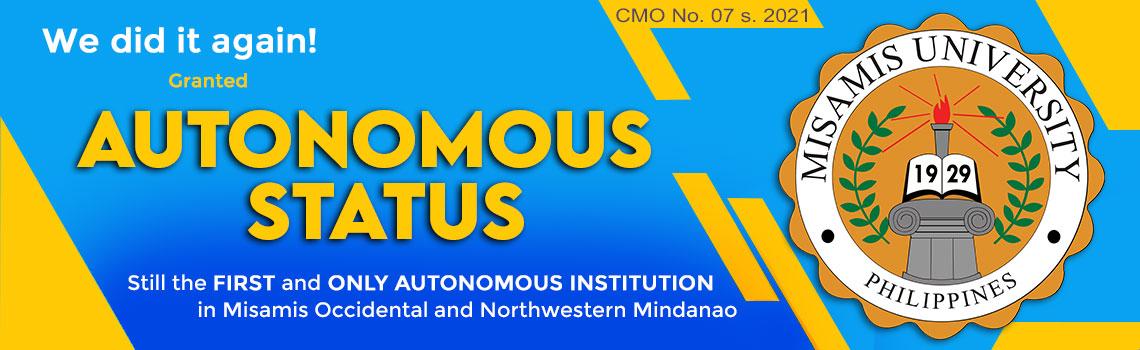 Autonomous Status of Misamis University