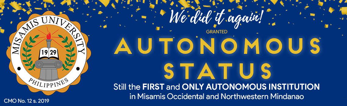 Misamis University Autonomous Status 2019
