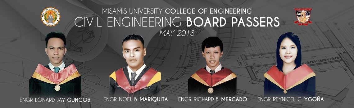 Civil Engineering Board passers may 2018