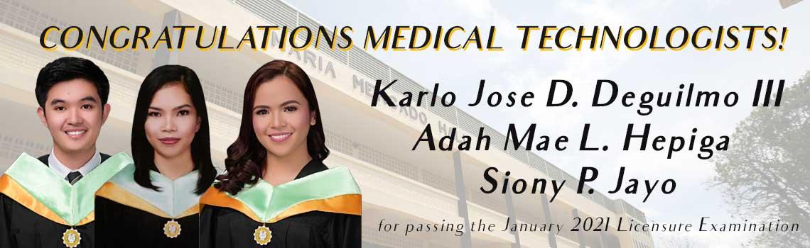 MU Medtech passers January 2021 Examination