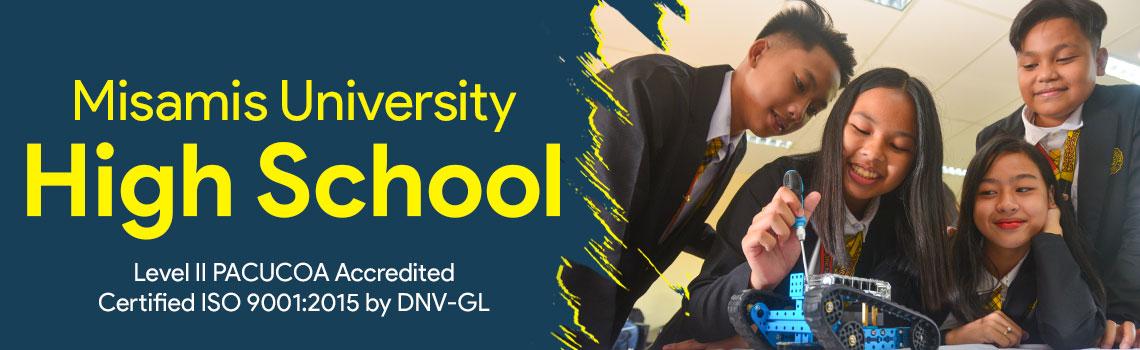 misamis university high school department banner 2020
