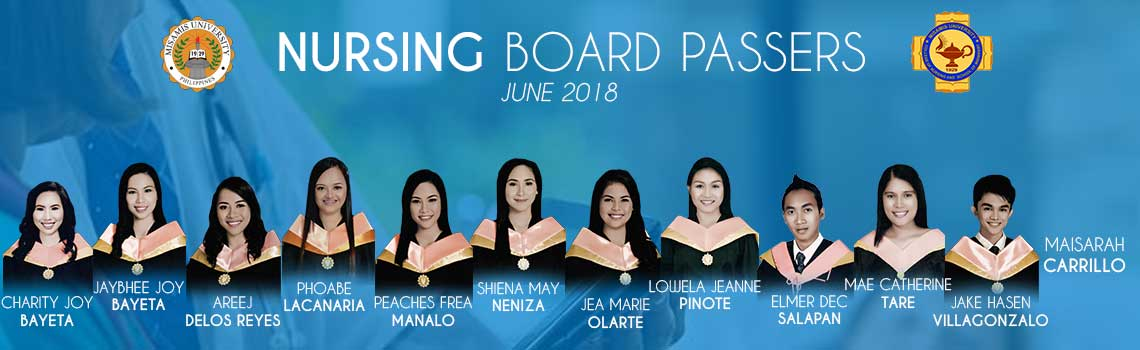 Misamis University Nursing Licensure passers June 2018