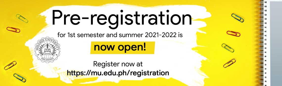 MU Pre-registration for enrollment is now open