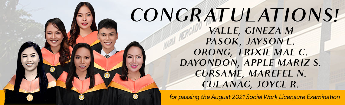 Social Work licensure examination passers August 2021